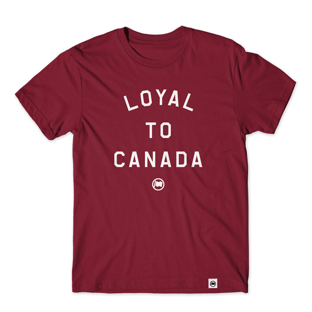 LOYAL to CANADA Unisex Tee (Burgundy) - LOYAL to a TEE