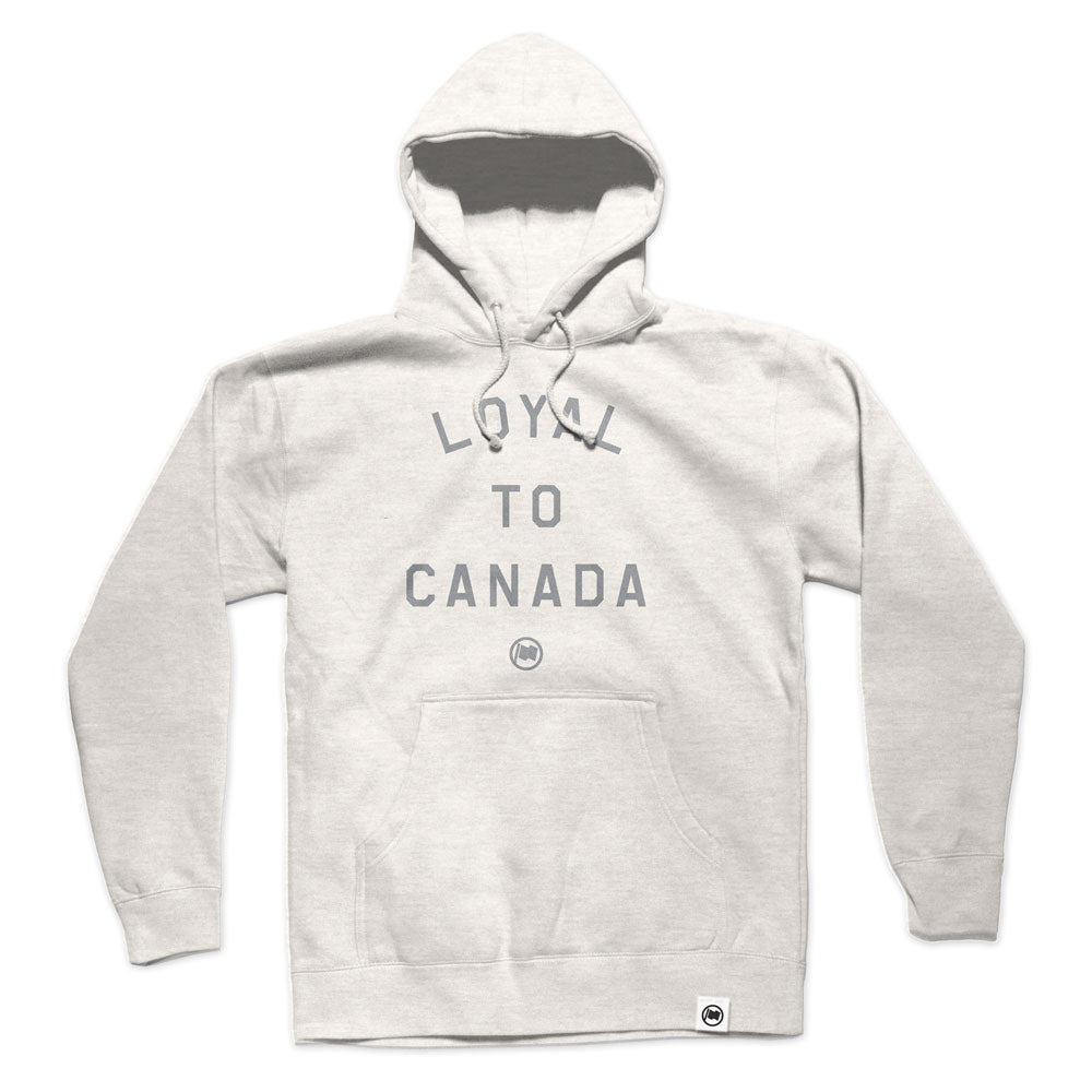 LOYAL to CANADA Unisex French Terry Hoodie (Oatmeal) - LOYAL to a TEE
