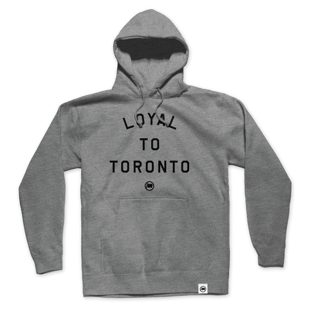 LOYAL to TORONTO Unisex French Terry Hoodie (Heather Grey) - LOYAL to a TEE
