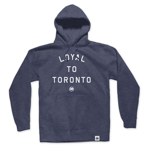 LOYAL to TORONTO Unisex Pocket Tee (Royal Heather/Navy)