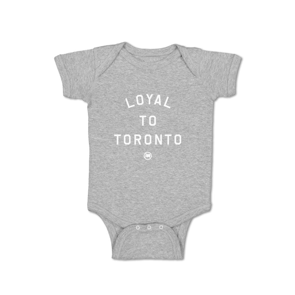 LOYAL to TORONTO Baby Onesie (Heather Grey) - LOYAL to a TEE