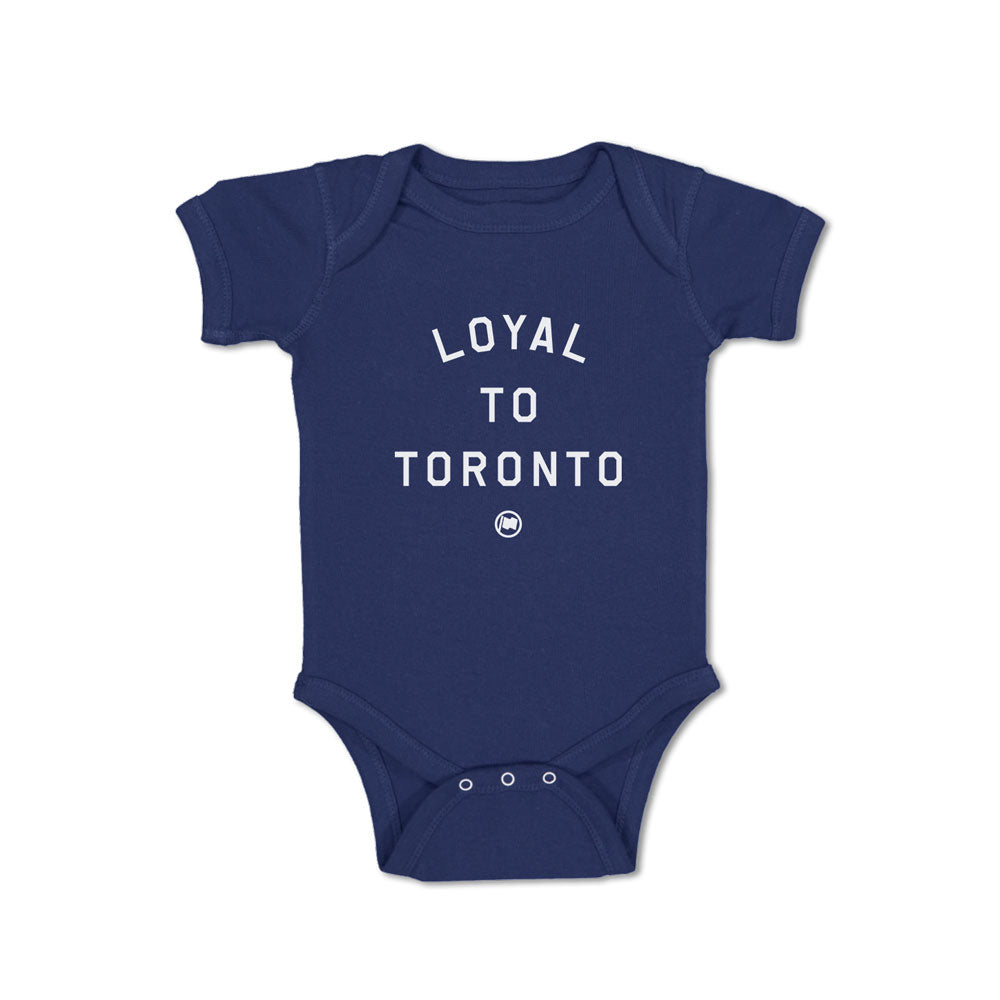 LOYAL to TORONTO Baby Onesie (Navy) - LOYAL to a TEE
