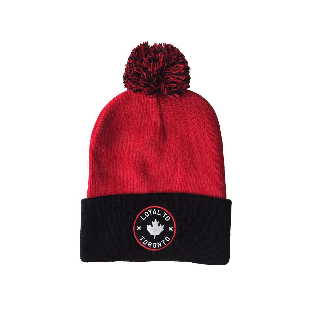LOYAL to TORONTO Pom Knit (Red/Black) - LOYAL to a TEE