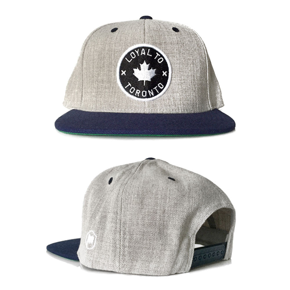 LOYAL to TORONTO Snapback (Heather/Navy) - LOYAL to a TEE