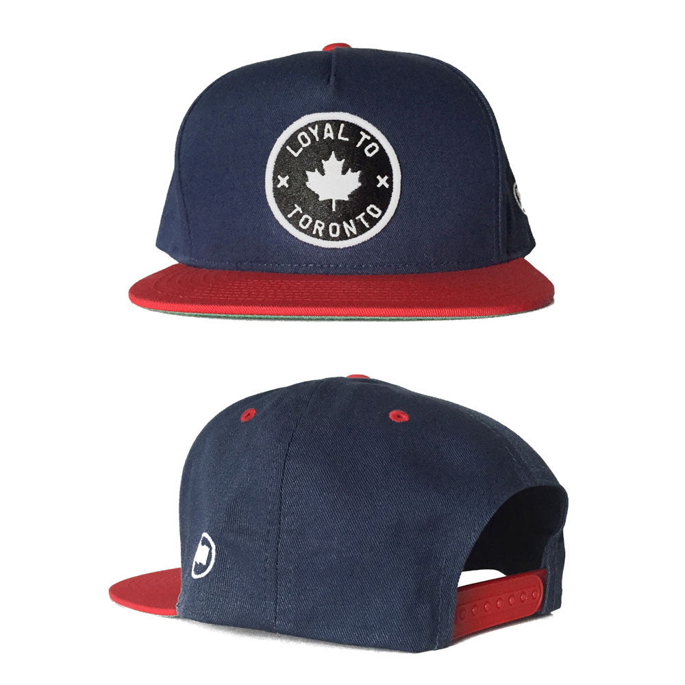 LOYAL to TORONTO Snapback (Navy/Canadian Red) - LOYAL to a TEE