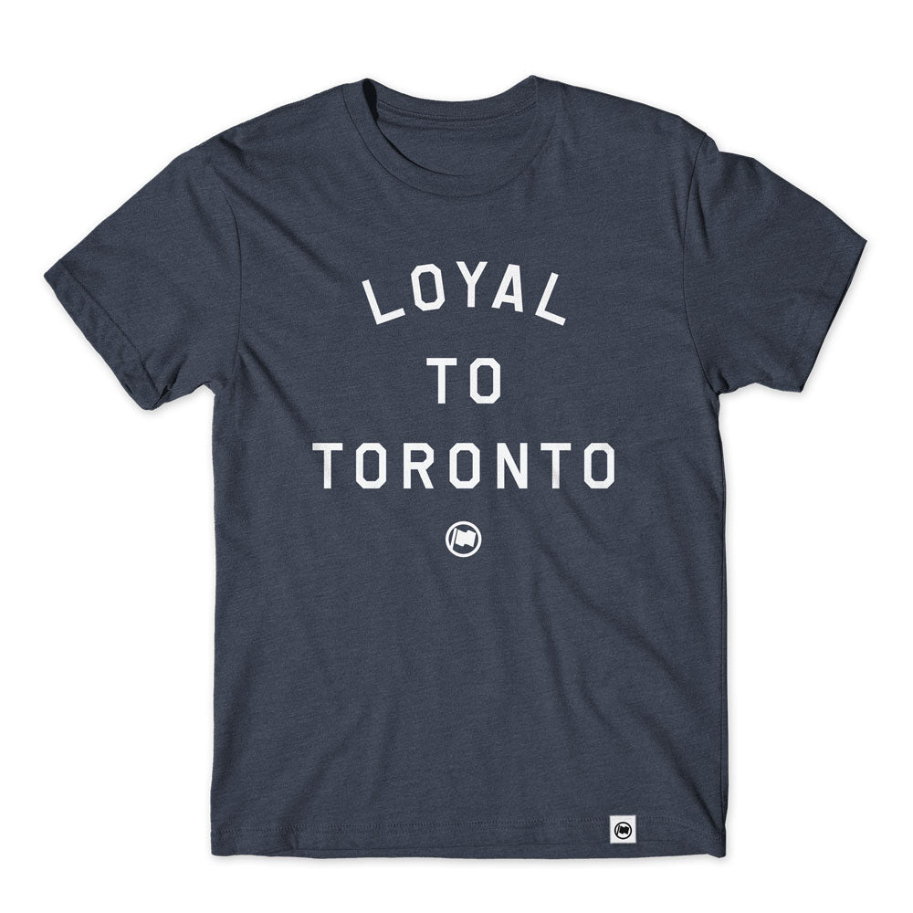 LOYAL to TORONTO Unisex Tee (Heather Navy) - LOYAL to a TEE
