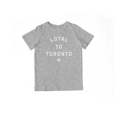LOYAL to TORONTO Unisex 3/4 Sleeve Tee (White/Blue)
