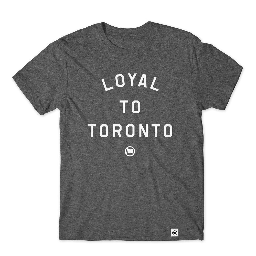 LOYAL to TORONTO Unisex Tee (Heather Charcoal) - LOYAL to a TEE