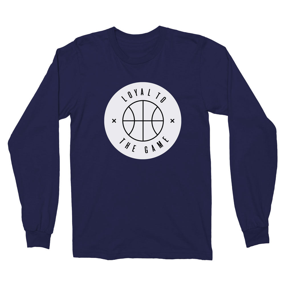 LOYAL TO BASKETBALL Unisex Long Sleeve Tee (Navy) - LOYAL to a TEE