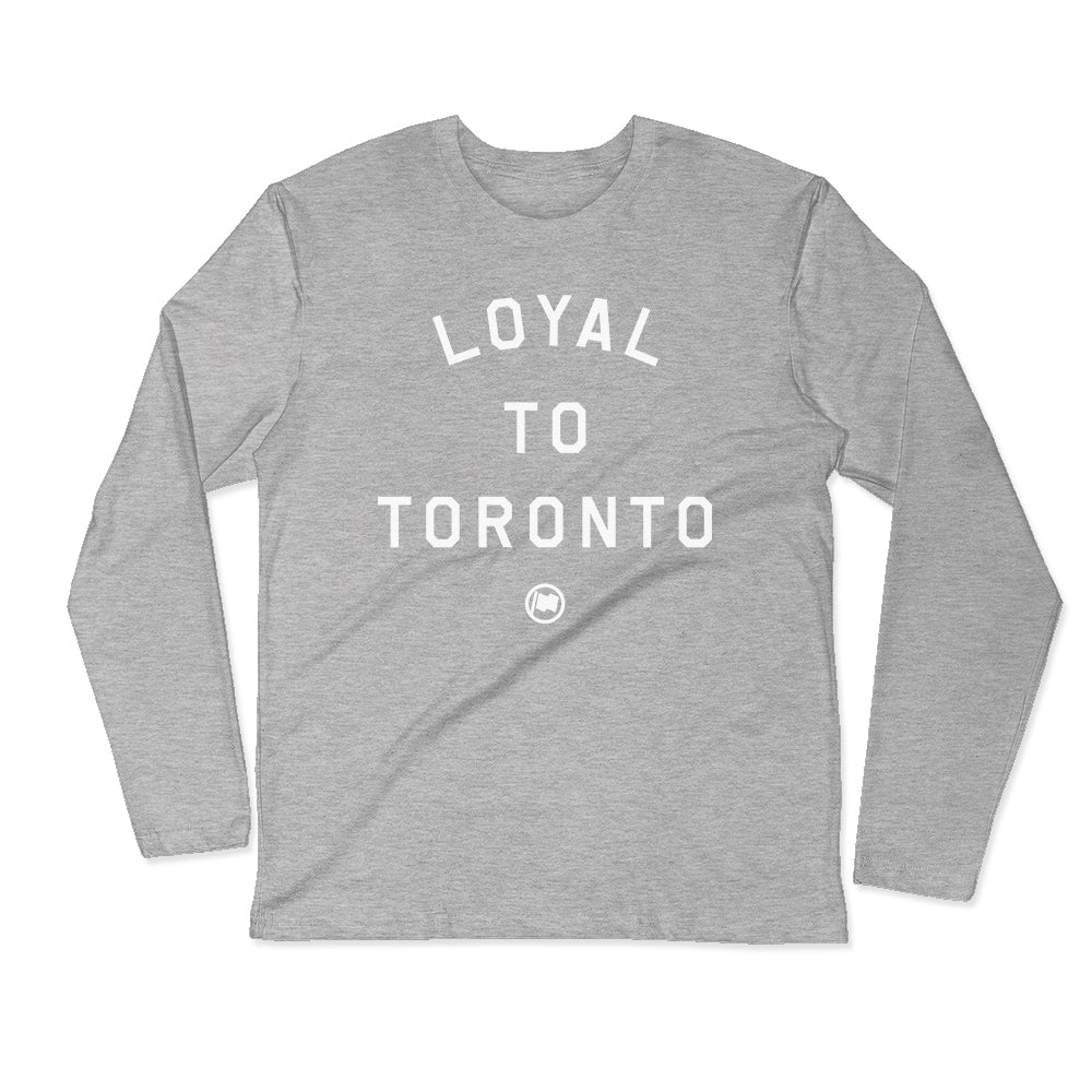 LOYAL to TORONTO Unisex Long Sleeve Tee (Heather Grey) - LOYAL to a TEE