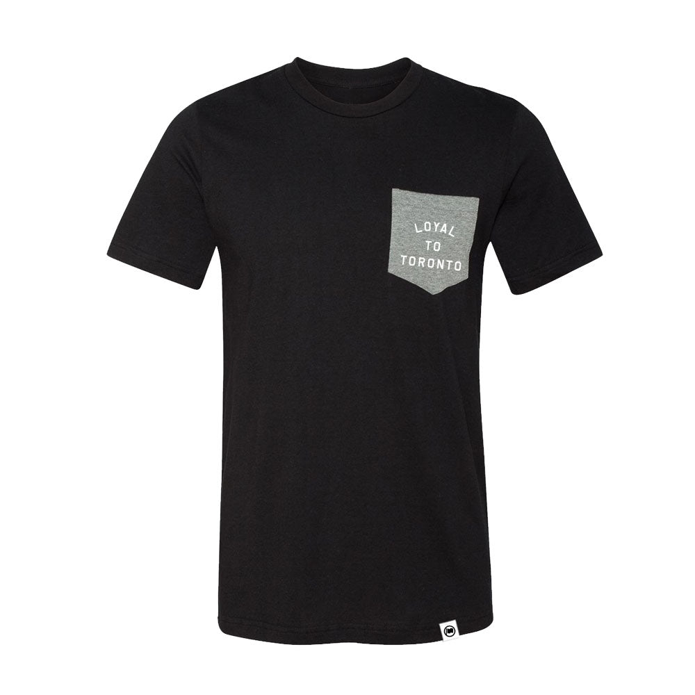 LOYAL to TORONTO Unisex Pocket Tee (Black/Heather Grey) - LOYAL to a TEE