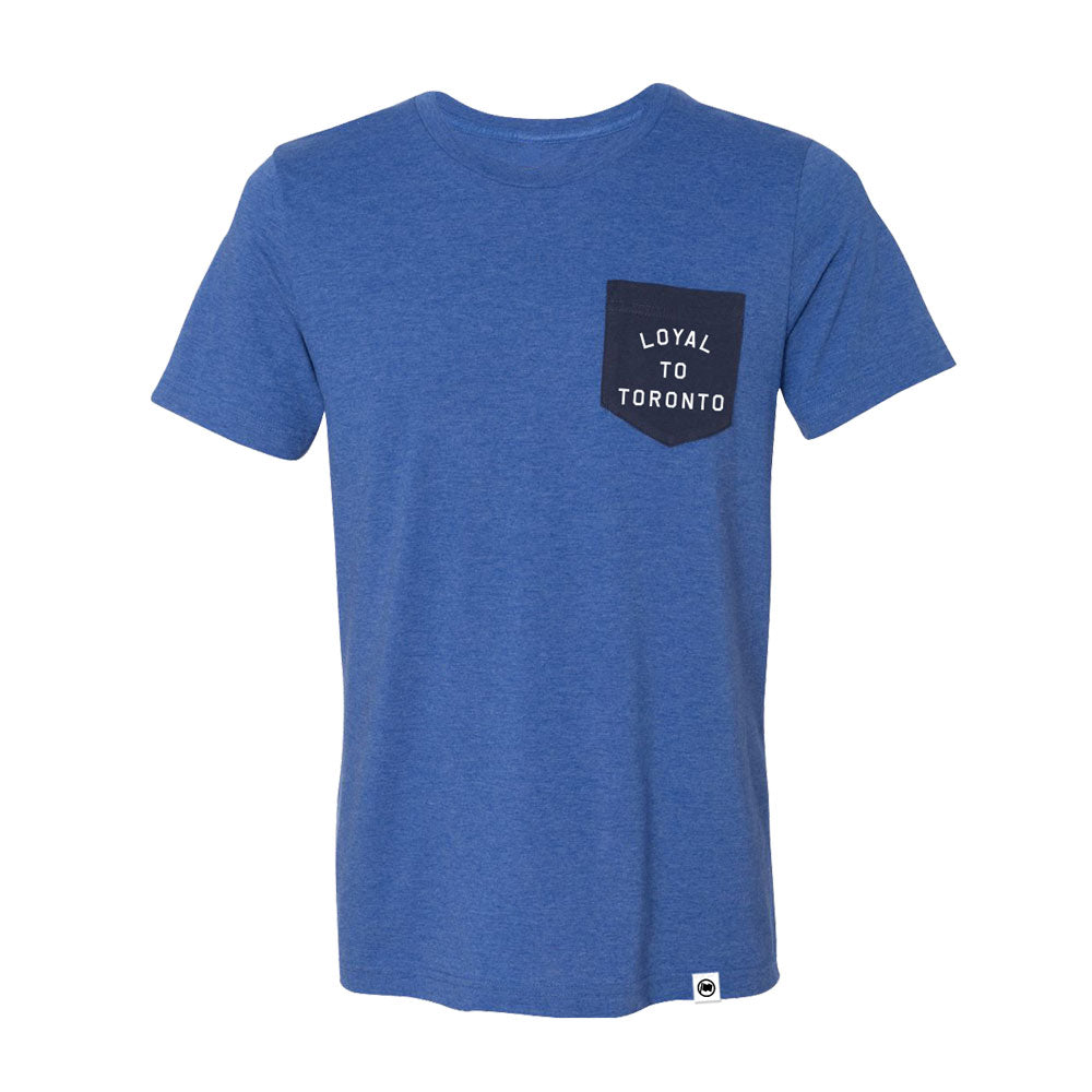 LOYAL to TORONTO Unisex Pocket Tee (Royal Heather/Navy) - LOYAL to a TEE