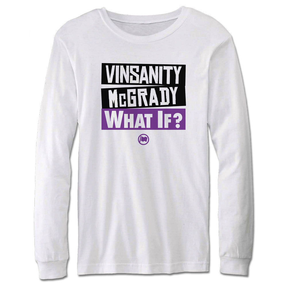 Vinsanity & McGrady Long Sleeve Tee (White) - LOYAL to a TEE