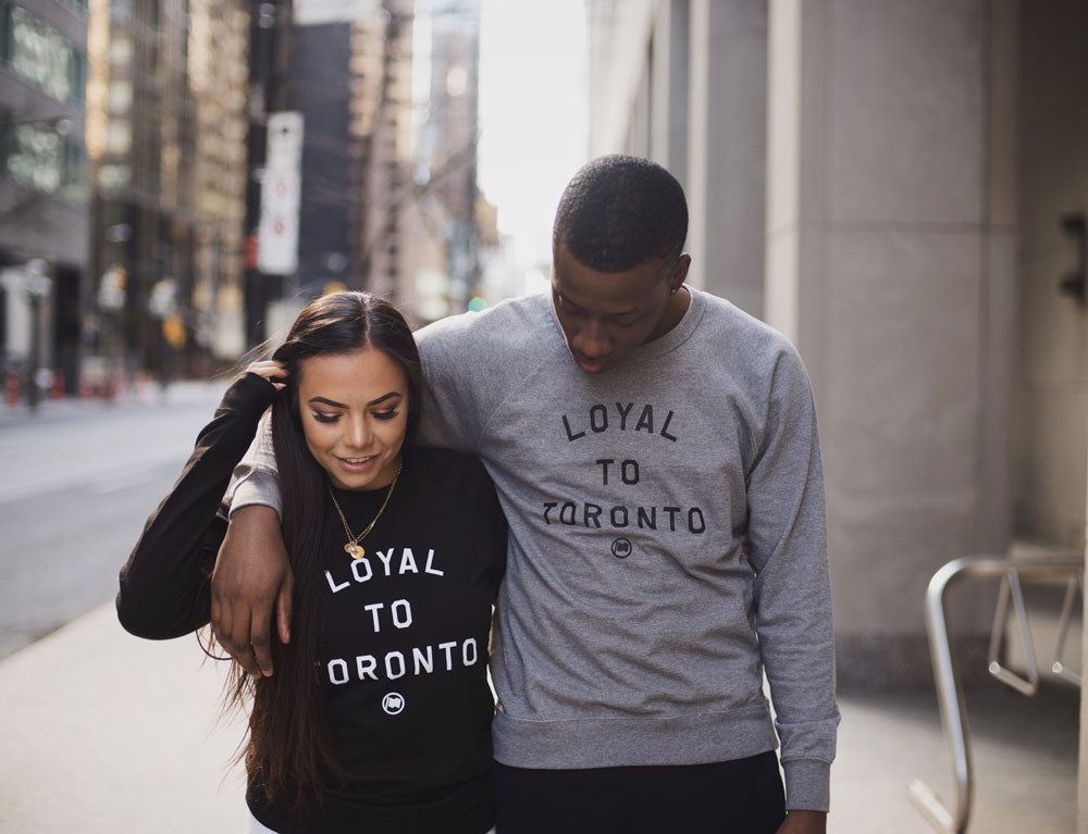LOYAL to TORONTO Unisex French Terry Crewneck (Heather Grey) - LOYAL to a TEE