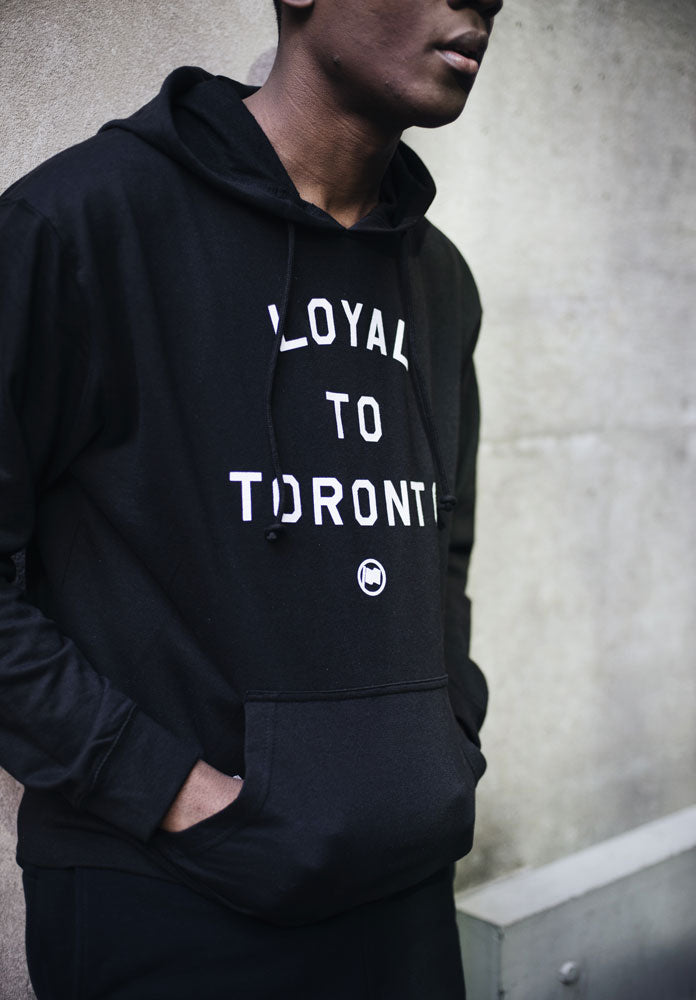 LOYAL to TORONTO Unisex French Terry Hoodie (Black) - LOYAL to a TEE