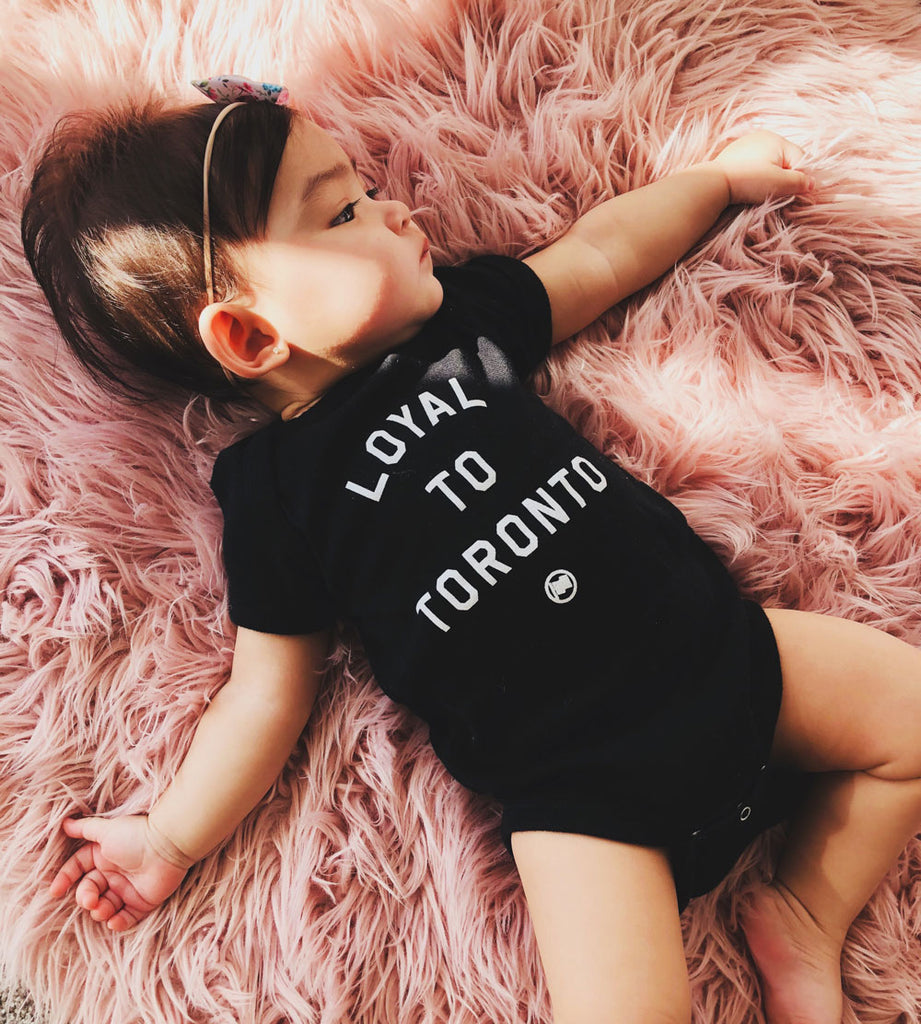 LOYAL to TORONTO Baby Onesie (Black) - LOYAL to a TEE
