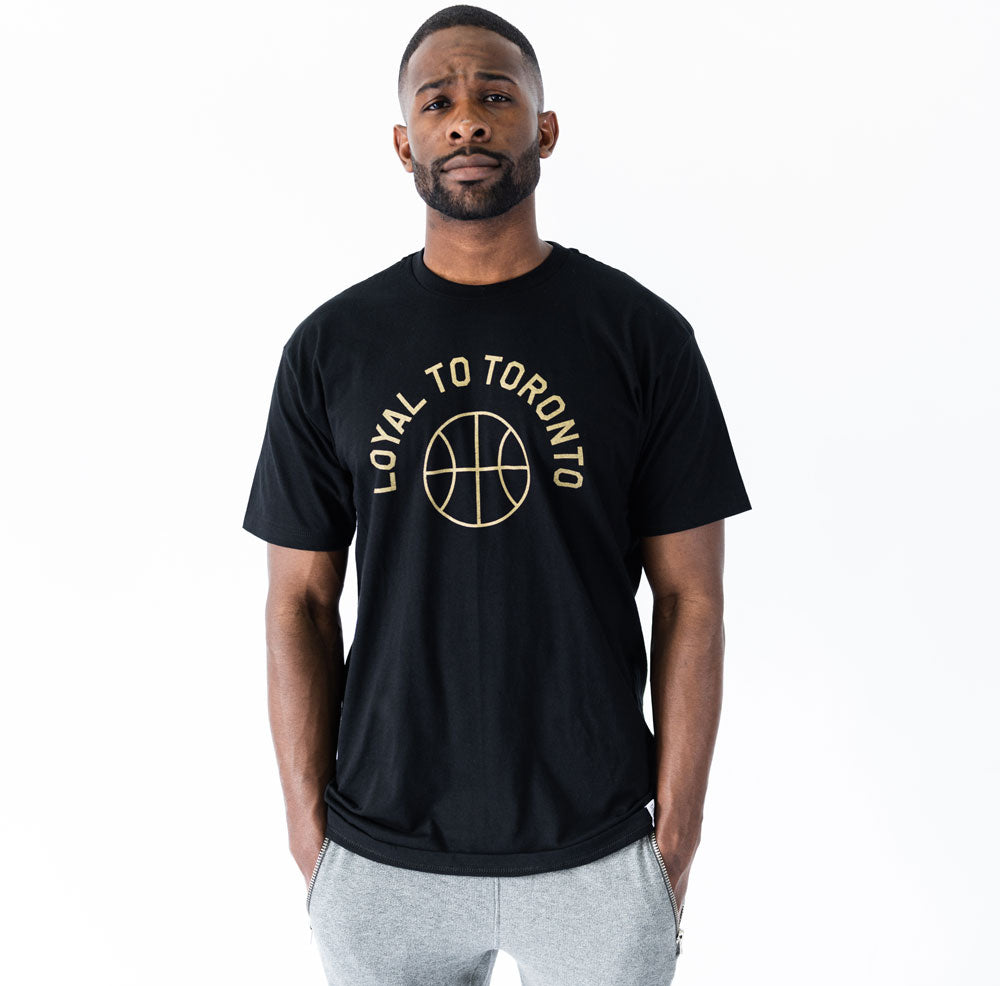 LOYAL to TORONTO Basketball Unisex Tee (Black) - LOYAL to a TEE