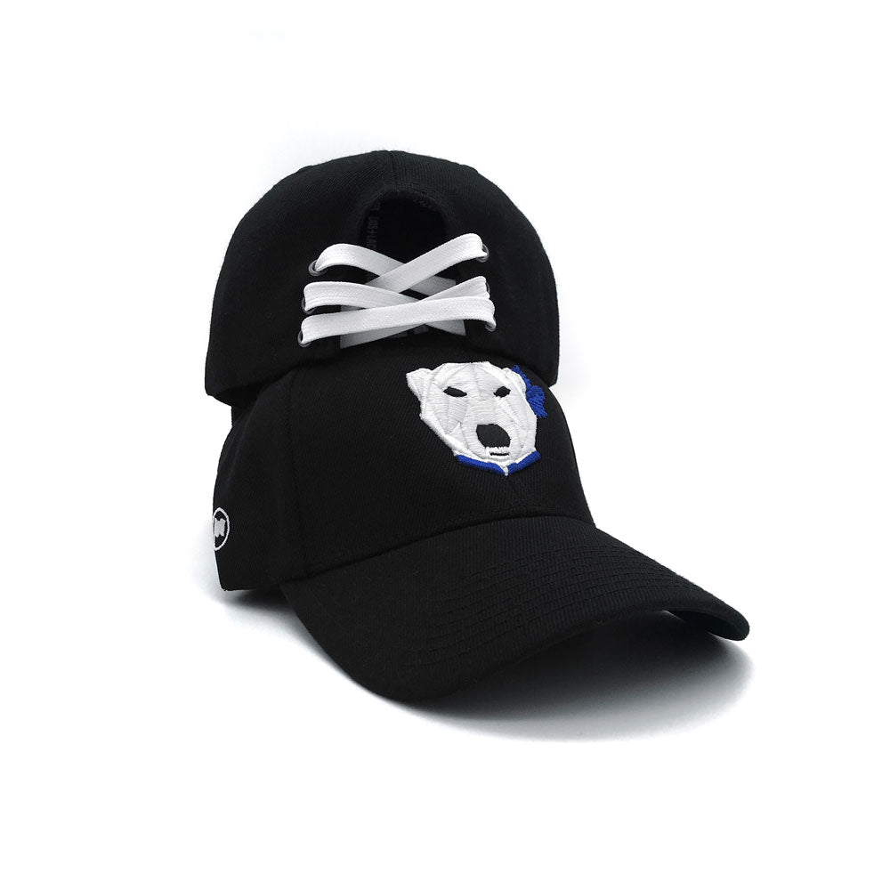 Leaf Bear Laceback Hat (Black) - LOYAL to a TEE