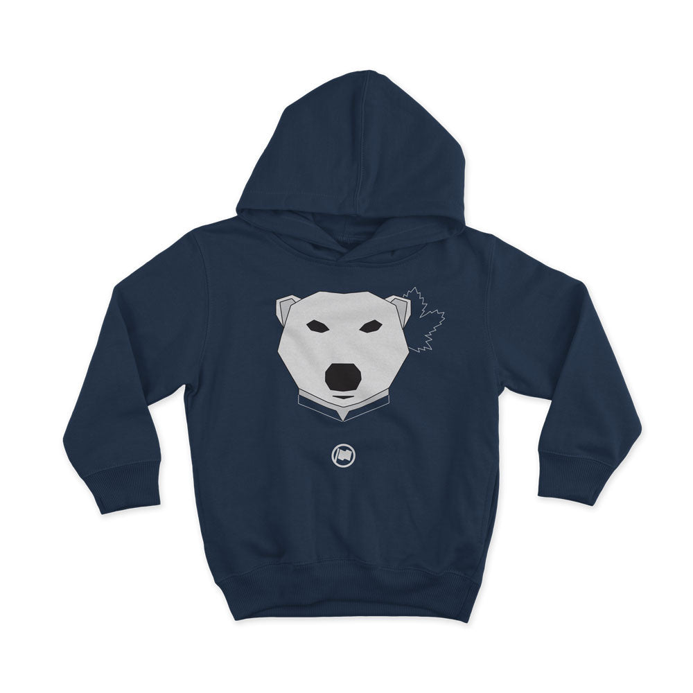 Leaf Bear Unisex Kids Hoodie (Navy) - LOYAL to a TEE