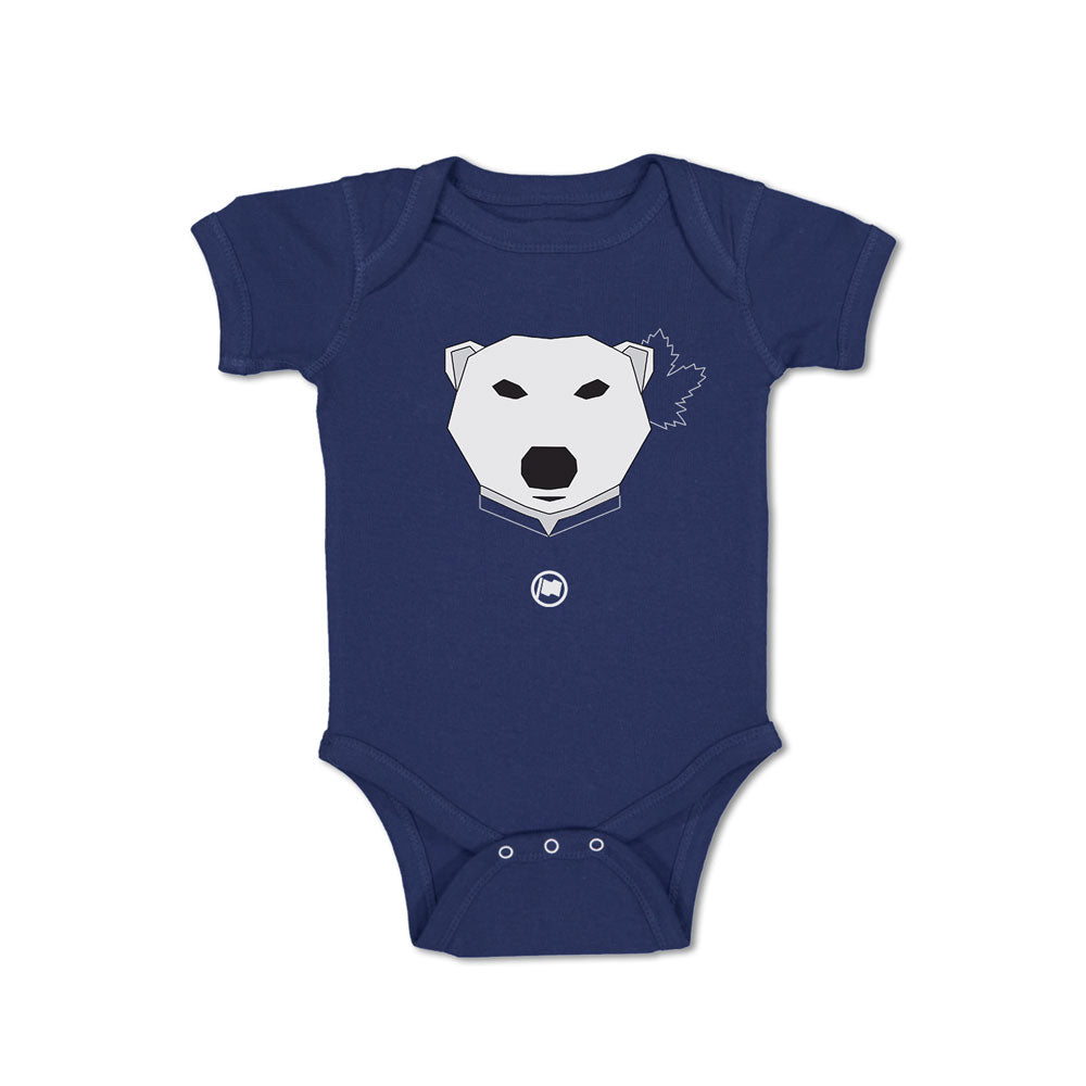 Leaf Bear Baby Onesie (Navy) - LOYAL to a TEE