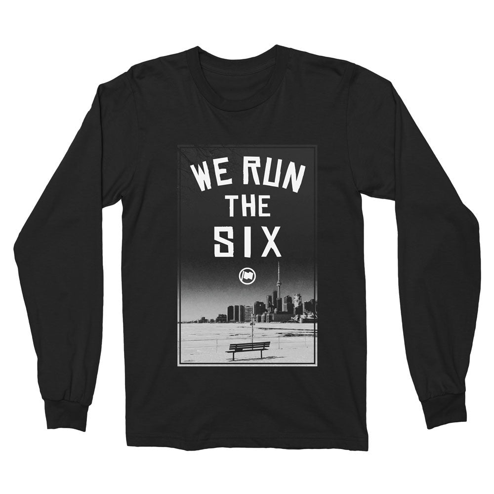 Run The Six Long Sleeve Unisex Tee (Black) - LOYAL to a TEE