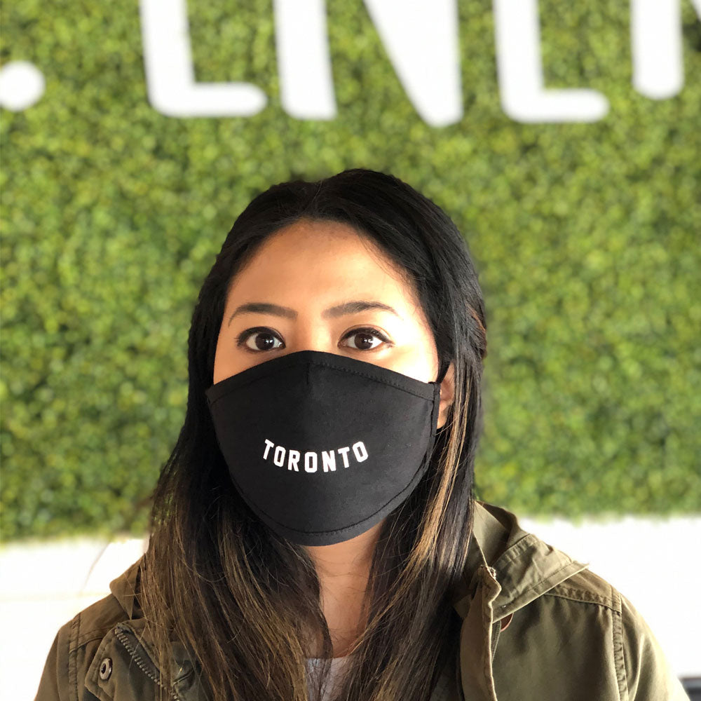 Smile Toronto Face Mask (Black) - LOYAL to a TEE