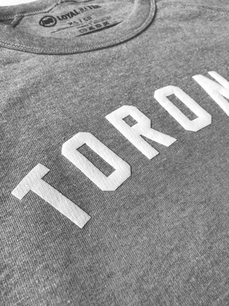 Toronto Puff Unisex French Terry Sweater (Heather Grey) - LOYAL to a TEE