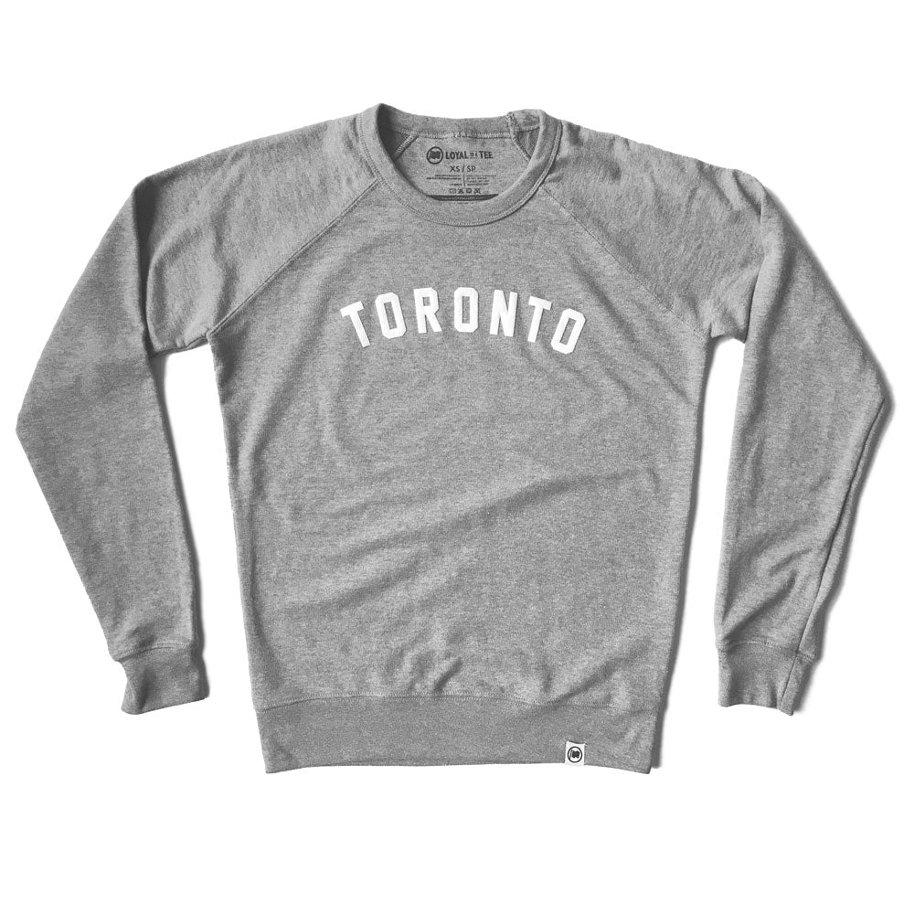 Toronto Puff Unisex French Terry Sweater (Heather Grey)
