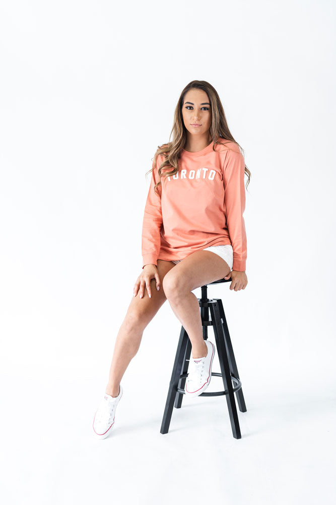 Toronto Puff Unisex French Terry Sweater (Peach) - LOYAL to a TEE