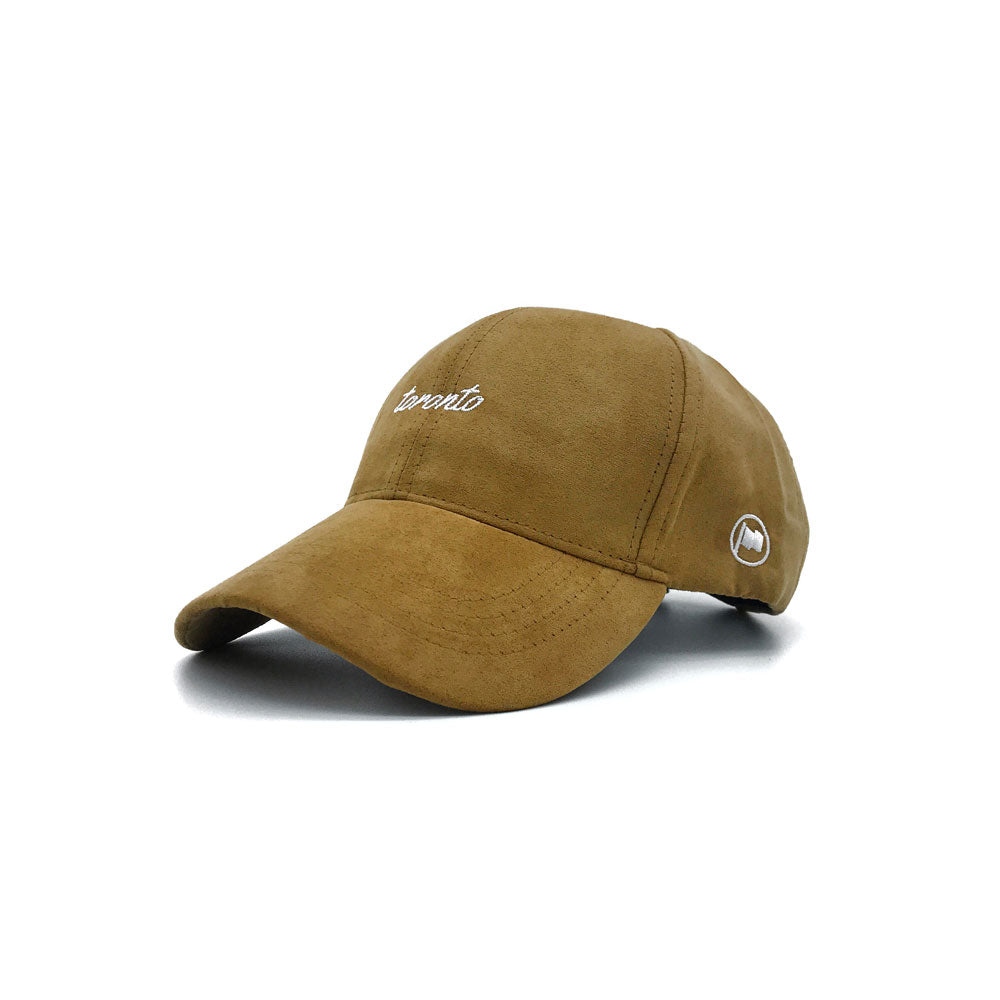 Toronto Script Suede Strapback (Tan) - LOYAL to a TEE