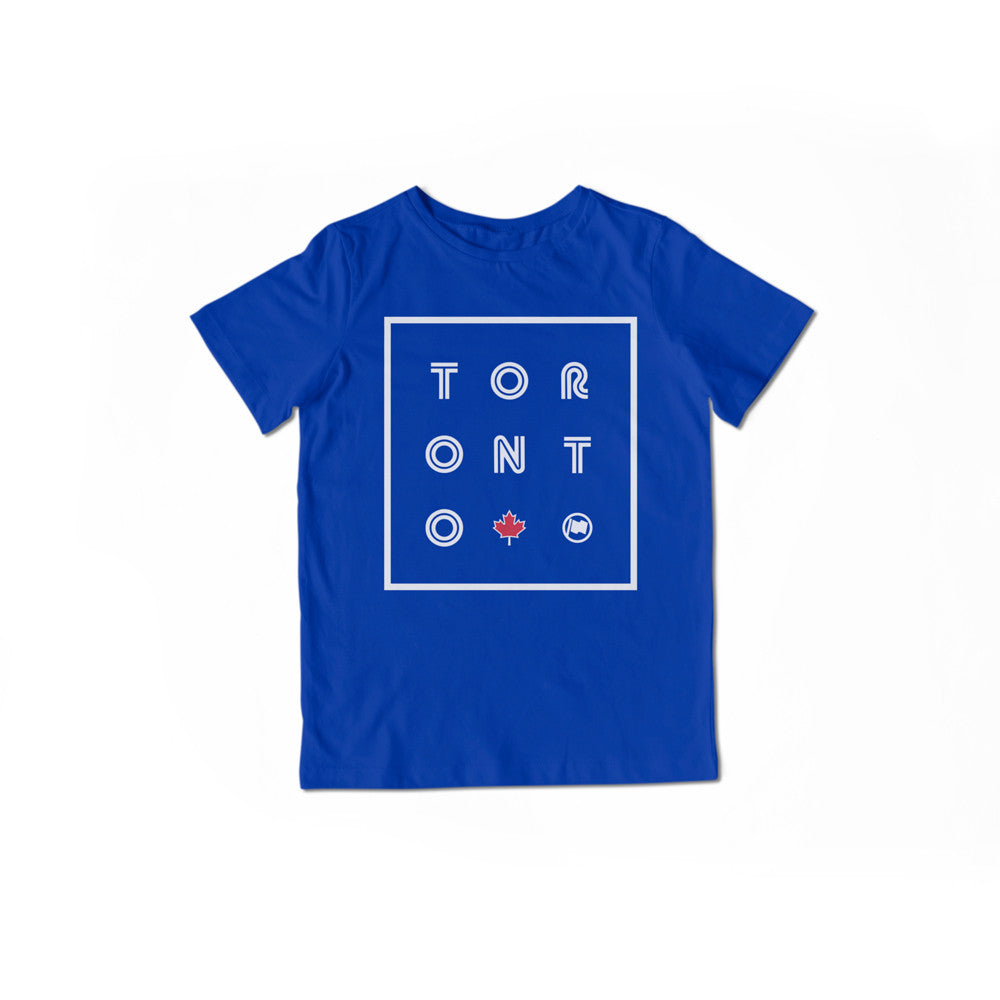 Toronto Unisex Kids Tee (Blue) - LOYAL to a TEE