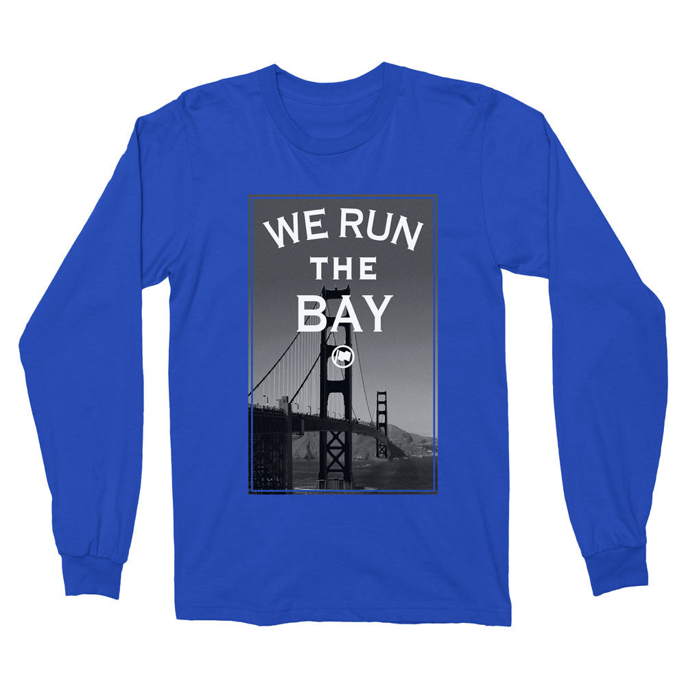 Run The Bay Long Sleeve Tee (Blue) - LOYAL to a TEE