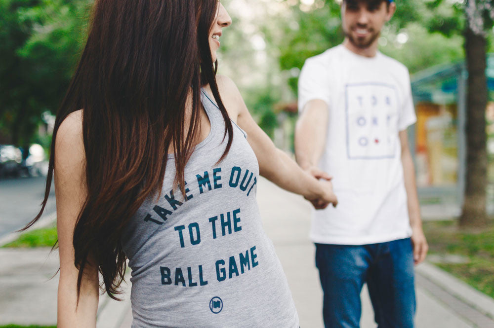 Ball Game Women's Racerback Tank (Heather Grey Triblend) - LOYAL to a TEE
