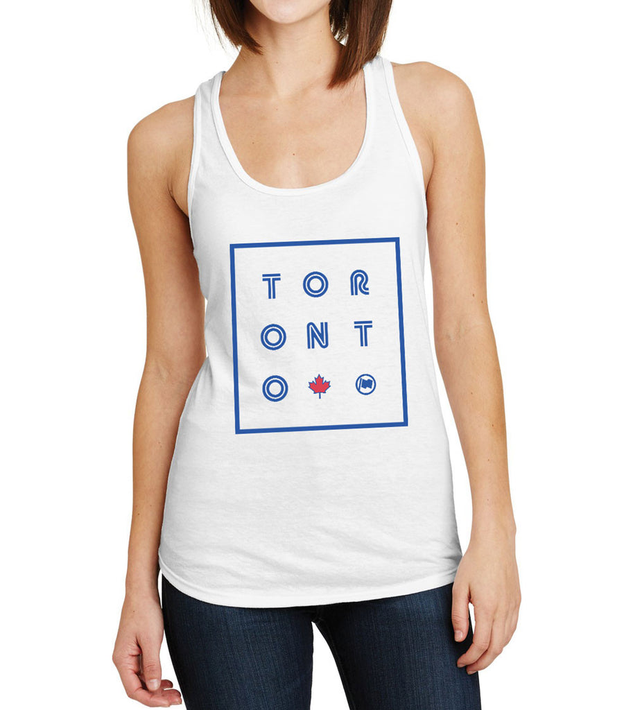 TORONTO Women's Racerback Tank (White Triblend) - LOYAL to a TEE