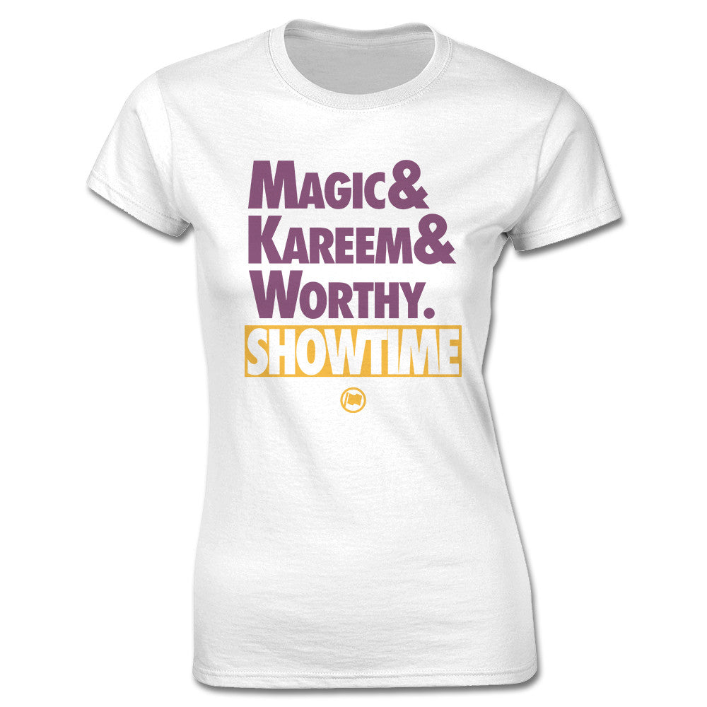 Showtime Women's Tee (White) - LOYAL to a TEE