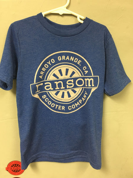 ransom scooters Youth T-Shirt | BLUE