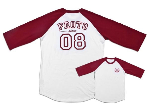 ROTO - Baller 3/4 Sleeve (Burgandy on White)