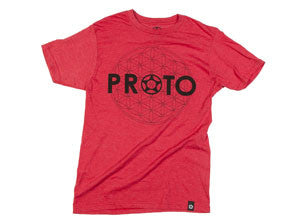 PROTO - Sacred Geometry Tee (Black On Red)