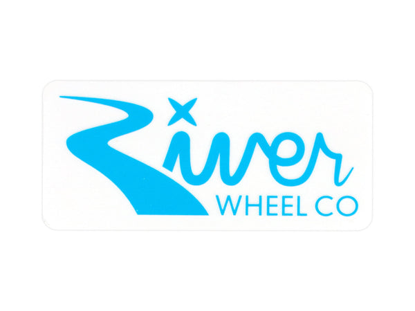 River Wheels Rectangle Small Sticker