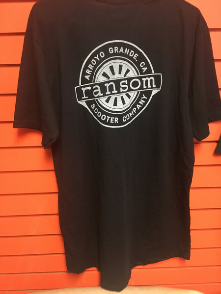 ransom scooters long  T-Shirt | Black