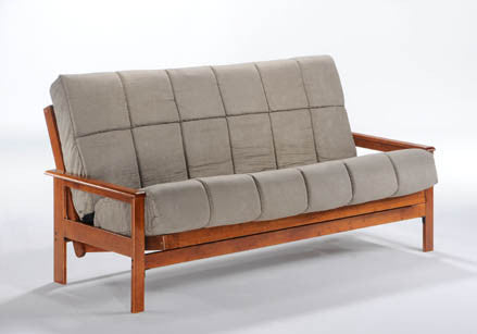 Albany Futon Frame In Hickory By Night U0026 Day ...