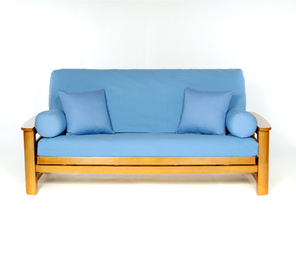 blue bon  twill futon cover     blue bon  twill 100  cotton futon cover   king of futons  rh   kingoffutons