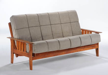 biltmore futon frame in hickory by night day