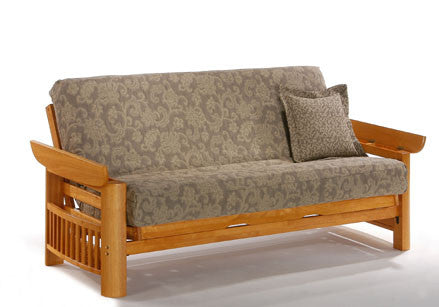 night  u0026 day portofino futon frame   honey oak     portofino futon frame   king of futons  rh   kingoffutons