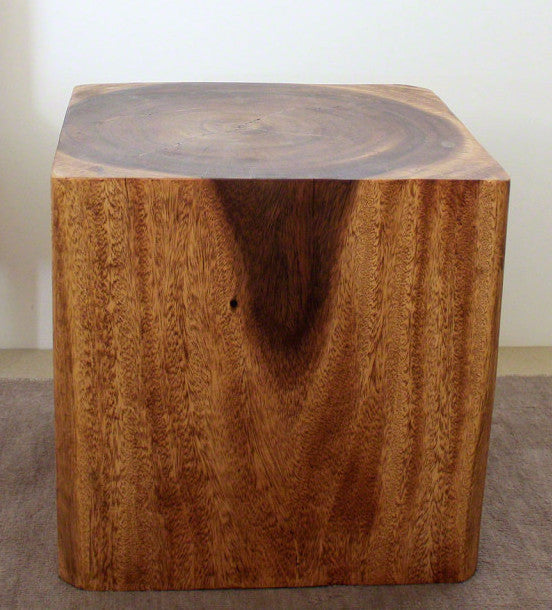 Home Products Cube Monkey Pod Wood Table. Cube Table ...