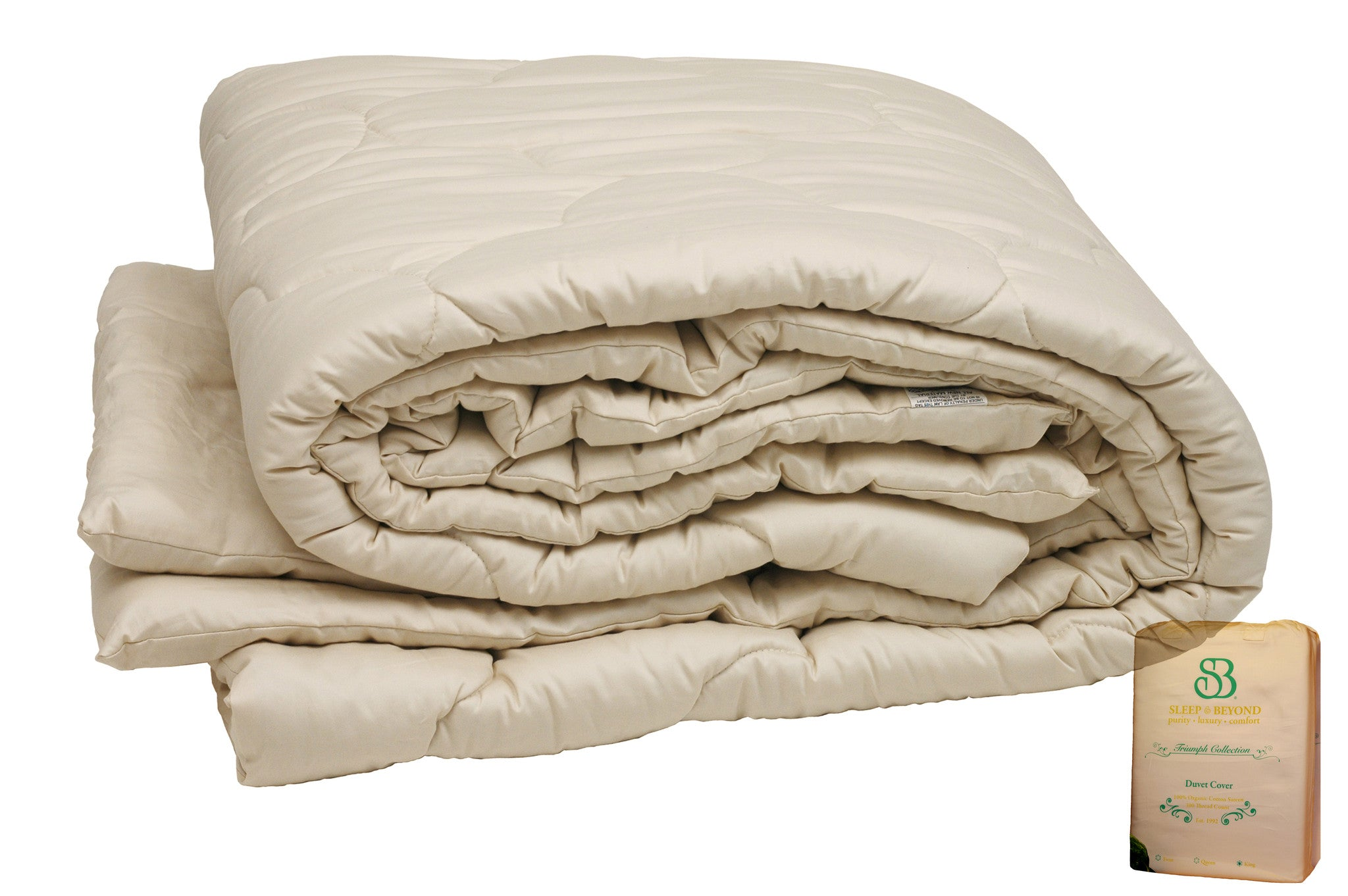 Fair Trade Organic Wool & Cotton Bedding King Futons