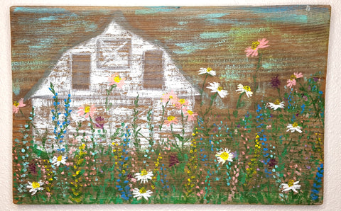 """Grow Wild"" Barn Wood Painting"