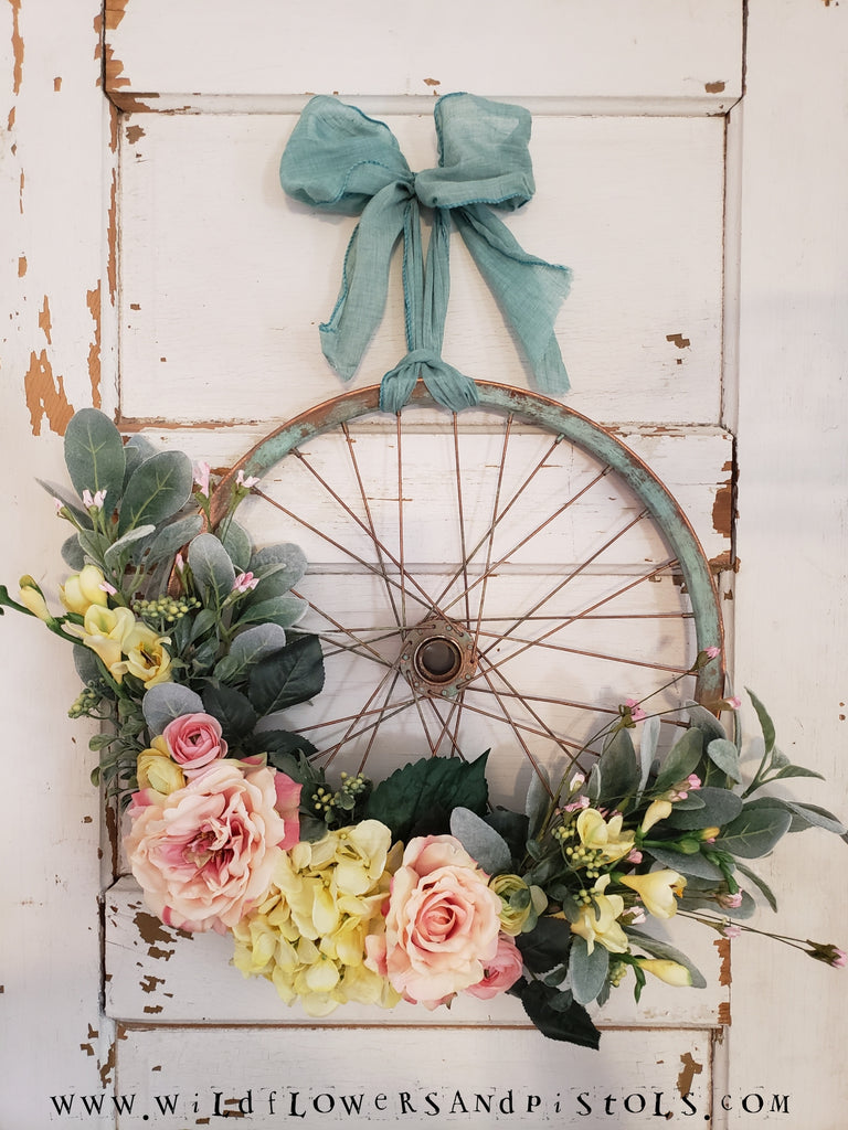 Vintage Bicycle Wreath
