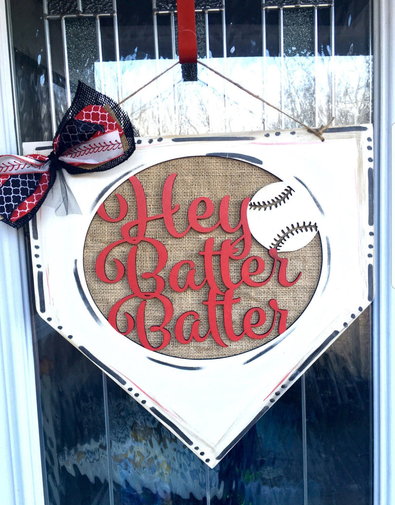 'Hey Batter Batter' Door Hanger DIY Kit