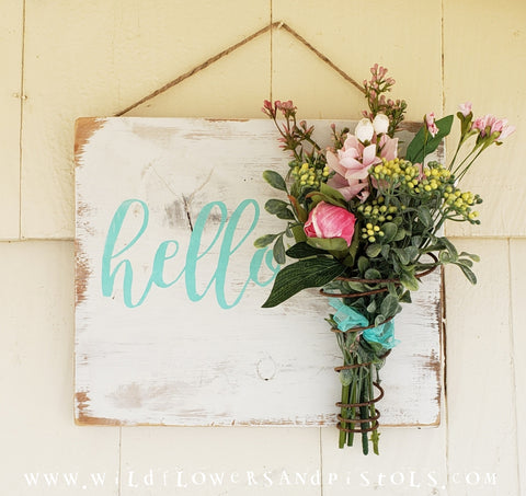 Bed Spring 'hello' Sign